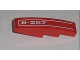 Part No: 61678pb005L  Name: Slope, Curved 4 x 1 with White Pinstripe and '8-057' Pattern Model Left (Sticker) - Set 8057