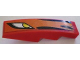 Part No: 61678pb011L  Name: Slope, Curved 4 x 1 No Studs with Headlight and Flames Pattern, Model Left (Sticker) - Set 8898