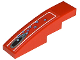 Part No: 61678pb014  Name: Slope, Curved 4 x 1 No Studs with Vent Hole and 10 Bubbles Pattern (Sticker) - Set 8060