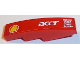 Part No: 61678pb097L  Name: Slope, Curved 4 x 1 No Studs with Shell Logo, 'acer', 'MAHLE', 'OMR', 'SKF' and 'brembo' Pattern Model Left Side (Sticker)