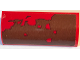 Part No: 6191pb018R  Name: Slope, Curved 1 x 4 x 1 1/3 with Red Mud Splotches Pattern (Sticker) - Set 70907