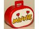 Part No: 6203pb06  Name: Scala Utensil Oval Case with Minnie and Two Hearts Pattern (Sticker)