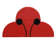 Part No: 6216pb01  Name: Brick, Modified 2 x 4 x 2 No Studs, Triple Curved Top with Ladybug Antenna Pattern