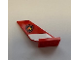 Part No: 6239pb078  Name: Tail Shuttle with Fire Logo Badge on Red Background and White Stripe Pattern on Both Sides (Stickers) - Set 60110