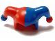 Part No: 62537pb02  Name: Minifigure, Headgear Jester's Cap with Blue Left Side and Blue Pom Pom Right Side Pattern