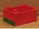 Part No: 6407pb01  Name: Duplo, Train Locomotive Cabin Base With Green Stripe on Two Sides