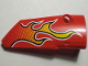 Part No: 64391pb035  Name: Technic, Panel Fairing # 4 Small Smooth Long, Side B with Flames Pattern (Sticker) - Set 42005