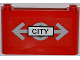 Part No: 64453pb005  Name: Windscreen 1 x 6 x 3 with Train Logo and 'CITY' Pattern (Sticker) - Set 7937