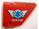 Part No: 64680pb016  Name: Technic, Panel Fairing #14 Large Short Smooth, Side B with EMT Star of Life and 'RESCUE' Pattern (Sticker) - Set 8068