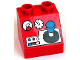 Part No: 6474pb20  Name: Duplo, Brick 2 x 2 Slope 45 with Joystick and Controls Pattern