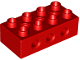 Part No: 6517  Name: Duplo Technic Brick 2 x 4 with 3 Holes