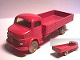 Part No: 653pb02  Name: HO Scale, Mercedes Open Bed Truck, Red Flatbed
