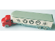 Part No: 657pb08  Name: HO Scale, Mercedes Refrigerated Truck (Animal Symbols, Twin Axle), White Trailer