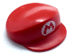 Part No: 67017pb01  Name: Large Figure Part Headgear Cap Mario with Letter M in White Oval Pattern