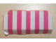 Part No: 678pb01  Name: Homemaker Awning 2 x 6 with Pink and White Stripes Pattern (Sticker) - Set 230