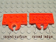 Part No: 737a  Name: Plate, Modified 2 x 4 with Train Coupler Open for Magnet
