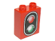 Part No: 76371pb001  Name: Duplo, Brick 1 x 2 x 2 with Bottom Tube with Traffic Signal Double Pattern