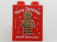 Part No: 76371pb105  Name: Duplo, Brick 1 x 2 x 2 with Bottom Tube with Merry Christmas LEGOLAND Discovery Centre Gingerbread Man Pattern