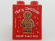 Part No: 76371pb106  Name: Duplo, Brick 1 x 2 x 2 with Bottom Tube with Merry Christmas LEGOLAND Discovery Center Gingerbread Man Pattern