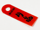 Part No: 76799b  Name: Plastic Banner with Chinese Logogram '月亮' (Moon) Pattern