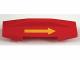 Part No: 81917pb01  Name: Duplo, Train Action Brick / Reverse Brick with Yellow Arrow Pattern