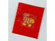 Part No: 838pb01  Name: Homemaker Cupboard Door 4 x 4 with Yellow Striped Cat Pattern (Sticker) - Set 271