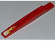 Part No: 85970pb003L  Name: Slope, Curved 10 x 1 with White and Yellow Flame Pattern Model Left (Sticker) - Set 9441