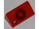 Part No: 85984pb023  Name: Slope 30 1 x 2 x 2/3 with Black Telephone Dial and Yellow Button Pattern (Sticker) - Set 6860