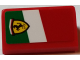 Part No: 85984pb162L  Name: Slope 30 1 x 2 x 2/3 with Ferrari Logo on Italian Flag Background Pattern Model Left Side (Sticker) - Set 75908
