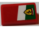 Part No: 85984pb162R  Name: Slope 30 1 x 2 x 2/3 with Ferrari Logo on Italian Flag Background Pattern Model Right Side (Sticker) - Set 75908