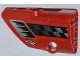Part No: 87080pb006  Name: Technic, Panel Fairing # 1 Small Smooth Short, Side A with Air Intake, Checkered Stripe and 'FRAME WORK' Pattern (Sticker) - Set 42011