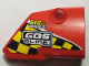 Part No: 87086pb041  Name: Technic, Panel Fairing # 2 Small Smooth Short, Side B with Black and Yellow Squares, 'BIG big WHEELS', 'GASoline' Pattern (Sticker) - Set 42005