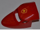 Part No: 87613pb007  Name: Aircraft Fuselage Curved Forward 6 x 10 with 3 Window Panes with Yellow and Red Fire Logo Badge Pattern (Sticker) - Set 4209