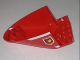 Part No: 87616pb001  Name: Aircraft Fuselage Curved Aft Section 6 x 10 Bottom with Fire Logo Pattern on Both Sides (Stickers) - Set 7206