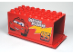 Part No: 89195c01pb01  Name: Duplo Truck Semi-Tractor Container 4 x 8 x 3.5 with Lightning McQueen Pattern (Cars Mack)