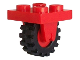Part No: 8c02  Name: Plate, Modified 2 x 2 with Wheel Holder Bottom and Red Wheel with Black Tire Offset Tread Small (8 / 3464 / 3641)