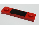 Part No: 92593pb038  Name: Plate, Modified 1 x 4 with 2 Studs without Groove with Black Rectangle Pattern