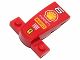 Part No: 93589pb005  Name: Wedge 4 x 2 x 1 1/3 with 1 x 4 Base with '6', Shell Logo, 'KASPERSKY lab', 'PIRELLI', 'FIAT' and Ferrari Logo Pattern (Sticker) - Set 30190