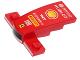Part No: 93589pb007s  Name: Wedge 4 x 2 x 1 1/3 with 1 x 4 Base with Black and White Stripes, 'HUBLOT', Shell Logo, 'TNT', 'KASPERSKY lab', 'PIRELLI', 'FIAT' and Ferrari Logo Pattern (Sticker) - Set 40190