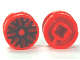 Part No: 93595pb03  Name: Wheel 11mm D. x 6mm with 8 'Y' Spokes with Black Outline Pattern