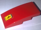 Part No: 93606pb071  Name: Slope, Curved 4 x 2 No Studs with Ferrari Logo Black Prancing Horse on Yellow Background Pattern (Sticker) - Set 10248