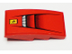 Part No: 93606pb082  Name: Slope, Curved 4 x 2 with Ferrari Logo and Vents Pattern (Sticker) - Set 75899