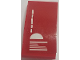 Part No: 93606pb093  Name: Slope, Curved 4 x 2 with White Lines and Half Circle on Red Background Pattern (Sticker) - Set 70615