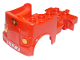 Part No: 95462pb01  Name: Duplo Car Body Truck with Reverse Fire Logo Pattern and Headlights on Front (Fits over Car Base 2 x 4)