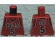 Part No: 973bpb151  Name: Torso NBA Chicago Bulls #5 Pattern