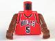 Part No: 973bpb151c01  Name: Torso NBA Chicago Bulls #5 Pattern / Brown NBA Arms