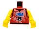 Part No: 973bpb156c01  Name: Torso NBA Player Number 8 Pattern / Yellow NBA Arms