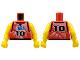 Part No: 973bpb158c01  Name: Torso NBA Player Number 10 Pattern / Yellow NBA Arms