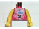 Part No: 973bpb178c01  Name: Torso NBA Player Number 2 Pattern / Yellow NBA Arms