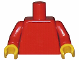 Part No: 973c02  Name: Torso Plain / Red Arms / Yellow Hands
